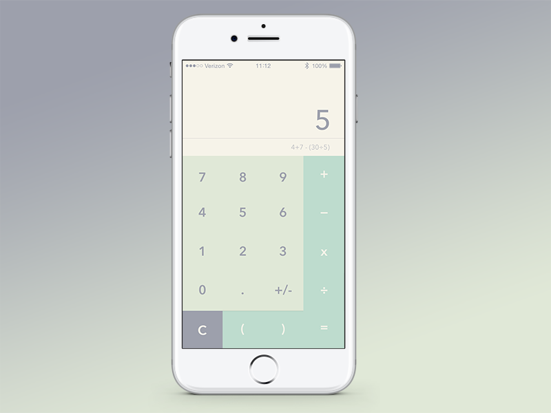 Daily UI Challenge #004 daily ui calculator uiux user experience design user interface design