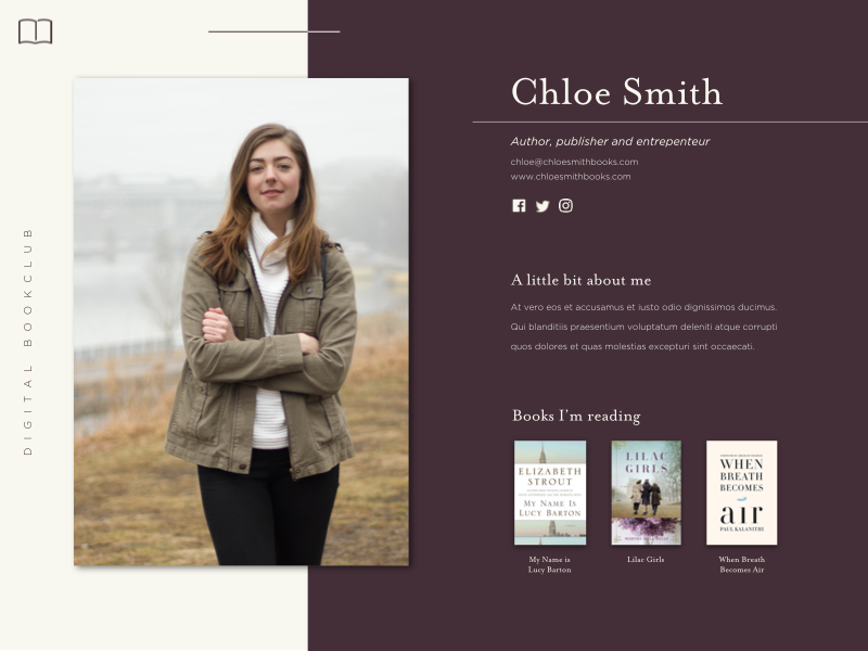 Daily UI Challenge #006 daily ui user profile uiux user experience design user interface design