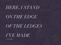 Ledges Lyric Poster