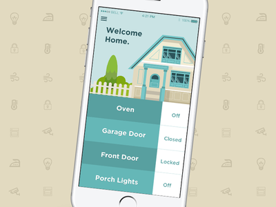 Daily UI Challenge #021 daily ui smart home ux ui uiux user experience design user interface design