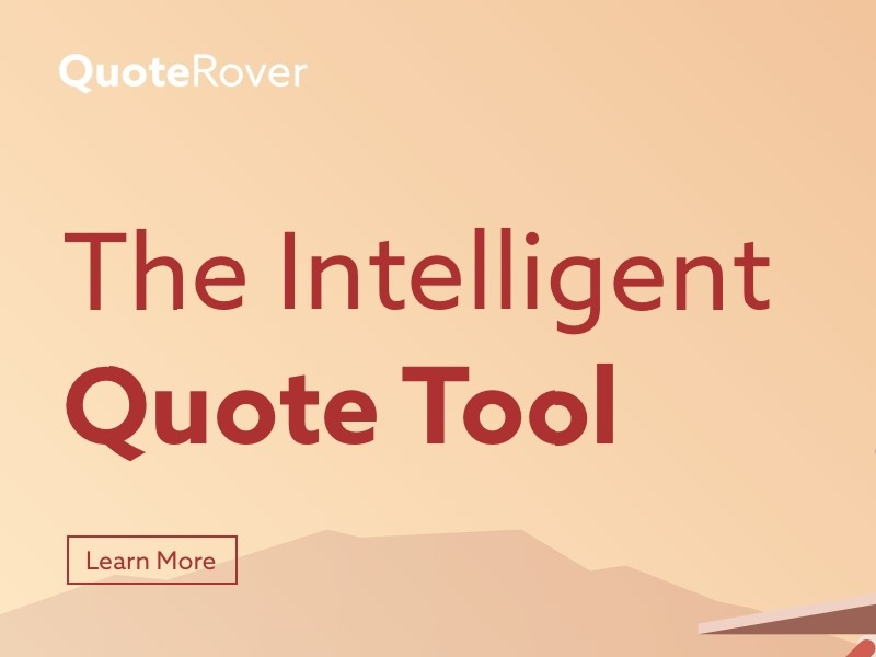 QuoteRover Interface web design quote tool uiux user experience design user interface design
