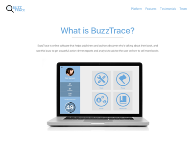 BuzzTrace About Us Page uiux user experience design user interface design