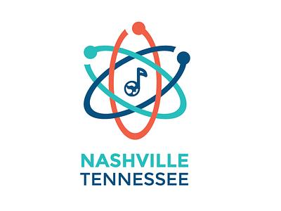 March for Science - Nashville nashville earth music note science identity branding logo