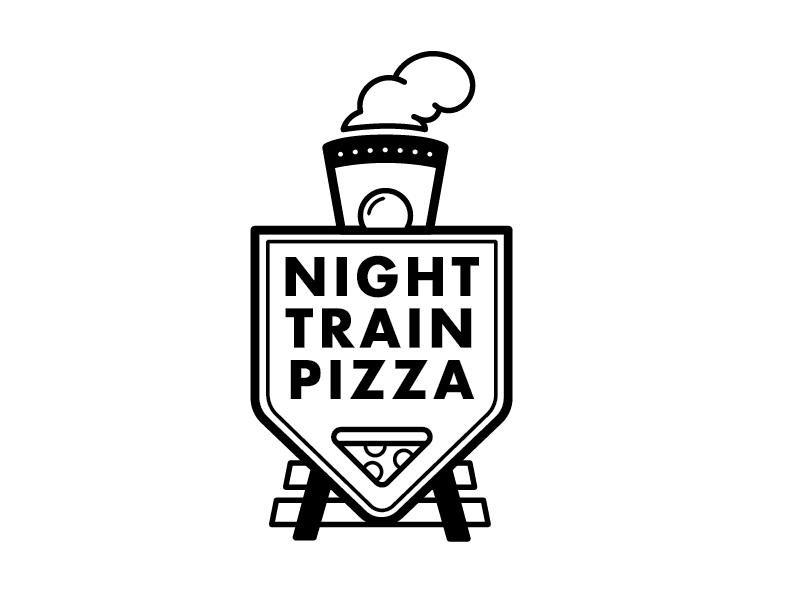Night Train Pizza Concept branding logo night train pizza