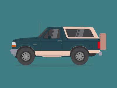 Ford Bronco illustration bronco ford