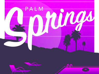Palm Springs illustration typography lettering hand lettering california palm springs