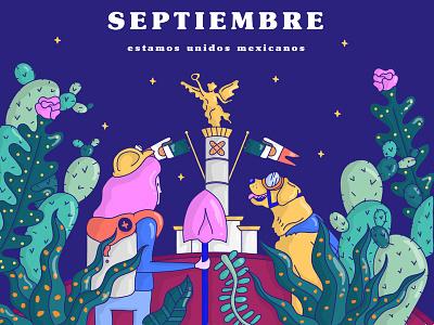 Trafico Bazar September Edition mexico cdmx earth quake illustration