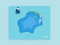 Lake lake go fishing