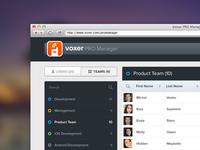 Admin UI / team view