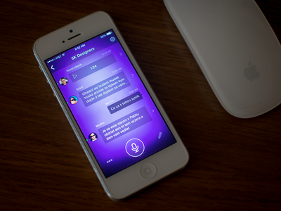 floating chat in progress chat ios7 floating blurred background