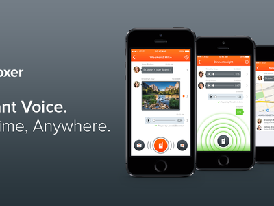 brand new Voxer 3.0 is out! voxer ios new walkie-talkie live audio