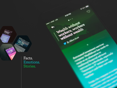 Facts.Emotions.Stories fun ios8 storytelling