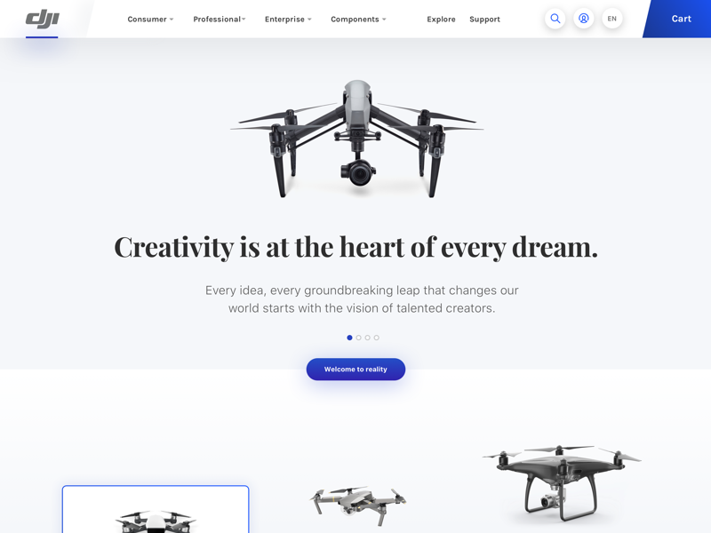 Creativity is at the heart of every dream. drone dji
