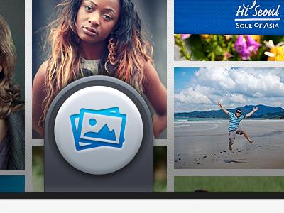 Photo stream button idea photo button idea concept push iphone ios