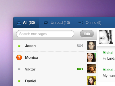 new cool chat window little preview ui web chat new messages soft