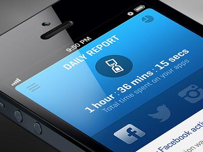 DailyReport app ios apps report statistics iphone blue services mobile app