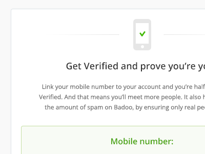 How to verify badoo mobile number
