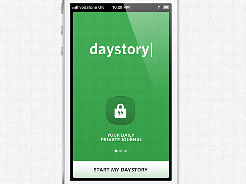 daystory | your private journal ios private journal daystory simple clean