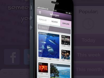 Whisper app new features ios design whisper app