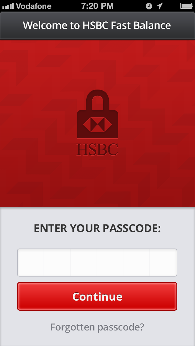 Hsbc pad login