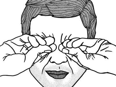 sleepy stubble wrinkles man hands face drawing pen inktober tired sleepy