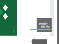 Iterations on a thank you