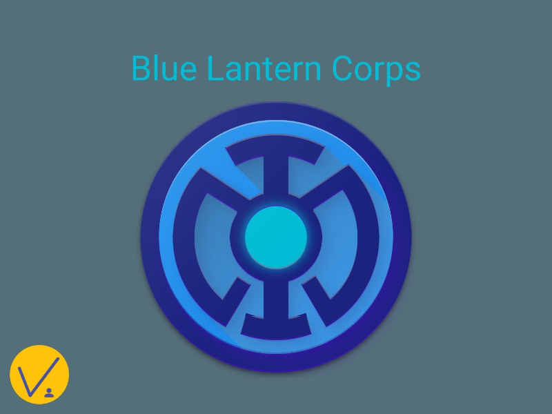 Blue Lantern Material Icon By Vanntile Ianito Dribbble