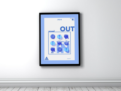 1st Sheet Section #8 | Poster tableau mockup blue motivation layout vector inkscape affiche poster firstsheetsection