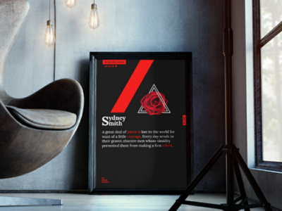 1st Sheet Section #10 | Inside Look mockup geometry inkscape rose typography layout affiche poster