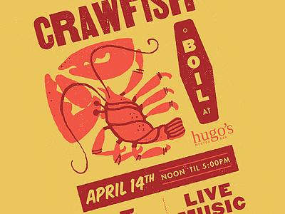 Crawfish Boil - Hugo's Oyster Bar restaurant branding restaurant design