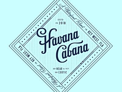 Havana Cabana Logo hotel design logo design