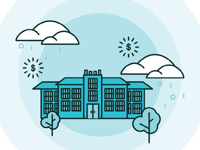 Charter Guide school lineillustration design illustration education charterschools