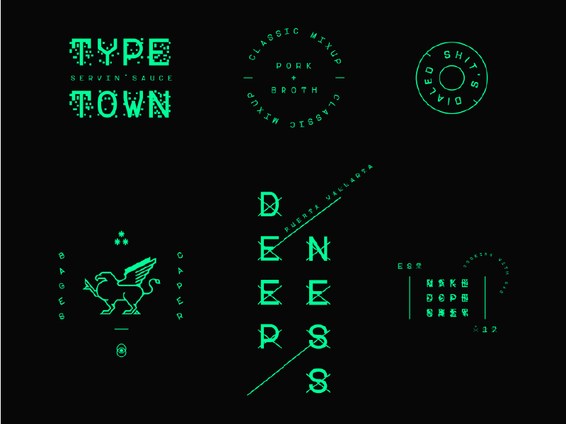 ZXX Badges modern identity logo branding color type black neon zxx typography badges