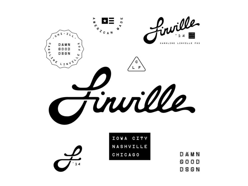 Linville | Personal Branding typography hand lettering type iowa chicago nashville identity logo system logo personal branding branding