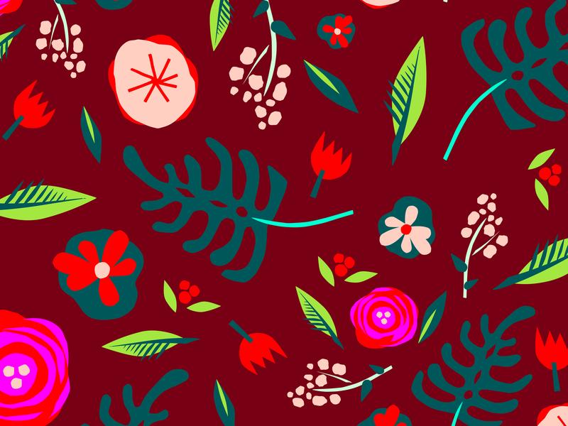 More Flowers flower illustration neon brand pattern branding art color illustration pattern flowers