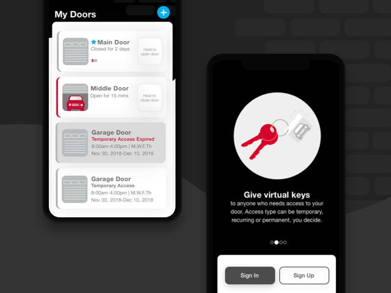 IOT Garage Door Opener App: Dark Version by Amanda Barnes