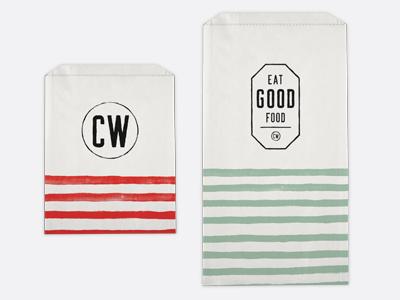 Commonwealth logo mark brand branding packaging bag food restaurant market grocery deli