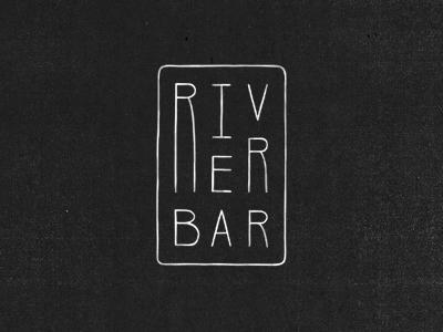 River Bar logo brand branding script custom logotype wordmark mark lettering hand drawn word mark