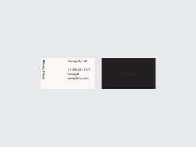 Windy duplex business card stationery identity mark branding brand logo