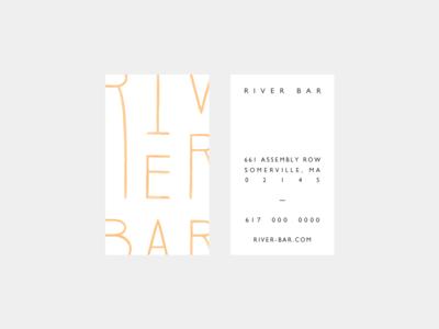 River Bar stationery envelope letterhead business card hospitality film studio branding brand logo