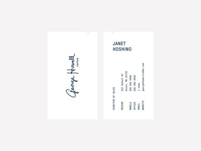 GHC stationery envelope letterhead business card hospitality film studio branding brand logo