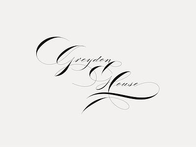 Greydon House spencerian custom hand-drawn script mark identity restaurant hotel branding brand logo