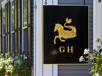 Greydon House sign horse hand-drawn script mark identity restaurant hotel branding brand logo