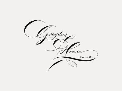 Greydon House lettering spencerian hand-drawn script mark identity restaurant hotel branding brand logo