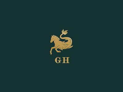 Greydon House bar restaurant hospitality hotel branding brand typography mythical animal mark logo