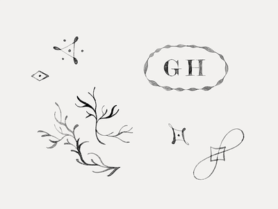 Greydon House custom hand-made painted bar restaurant hospitality hotel branding brand illustration mark logo