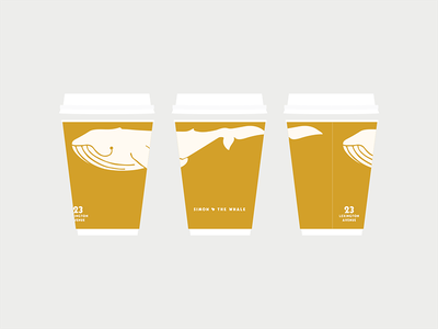 Simon & The Whale take out cup to-go coffee custom hospitality bar restaurant packaging brand branding logo