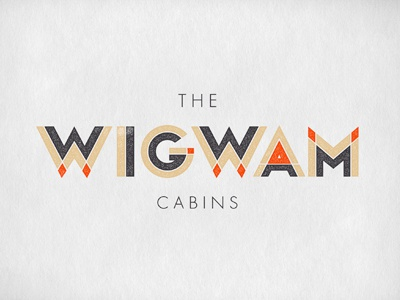 Wigwam logo identity mark brand typography hotel inn hospitality custom type oat