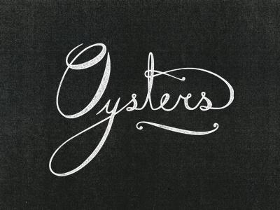 Island Creek Oysters lettering logo branding oysters