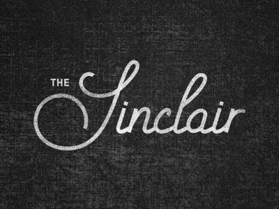 The Sinclair logo branding identity restaurant bar club music venue oat creative